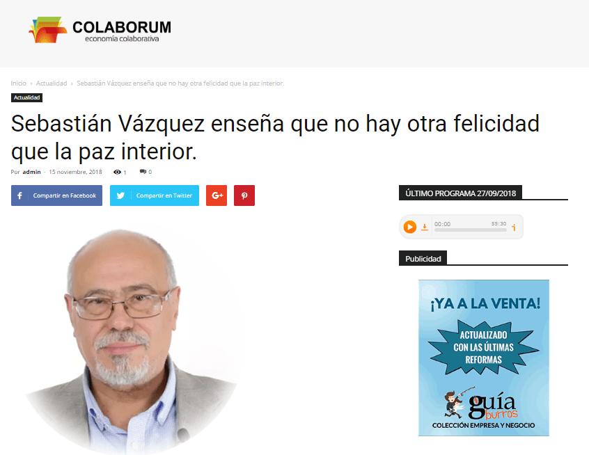 Sebastián Vázquez y su último libro en Colaborum.
